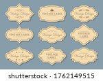 retro craft labels set. text... | Shutterstock .eps vector #1762149515