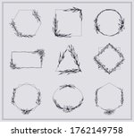 frames with branches and...   Shutterstock .eps vector #1762149758