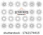 sunbursts collection of trendy...   Shutterstock . vector #1762174415