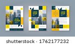 business leaflet brochure flyer ... | Shutterstock .eps vector #1762177232