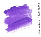 purple brush stroke painted... | Shutterstock . vector #1762180355