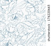 seamless floral pattern with... | Shutterstock .eps vector #176220665