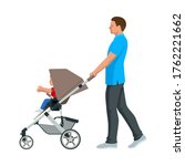 baby carriage isolated on a... | Shutterstock .eps vector #1762221662