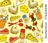 food seamless pattern suitable... | Shutterstock . vector #176224658