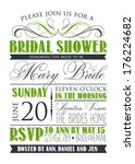 bridal shower card | Shutterstock .eps vector #176224682