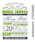 bridal shower card   Shutterstock .eps vector #176224682