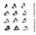 abstract pattern with triangle. ... | Shutterstock . vector #1762247465