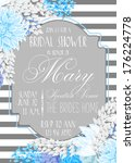 bridal shower card | Shutterstock .eps vector #176224778