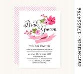 wedding invitation card | Shutterstock .eps vector #176224796
