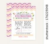 bridal shower card | Shutterstock .eps vector #176225048