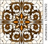 illustration in stained glass... | Shutterstock .eps vector #1762258922