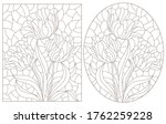 a set of contour illustrations... | Shutterstock .eps vector #1762259228