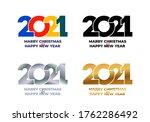 2021 happy new year. set of... | Shutterstock .eps vector #1762286492