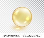 gold oil bubble isolated on... | Shutterstock .eps vector #1762292762