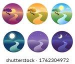 set of modern beautiful... | Shutterstock .eps vector #1762304972