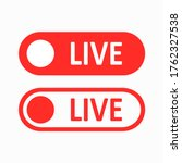 live button. a set of red...