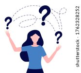 smart puzzled woman asking...   Shutterstock .eps vector #1762328252