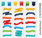 retro paper colorful ribbons... | Shutterstock .eps vector #1762333088