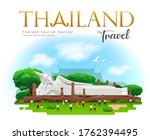 reclining buddha. travel...   Shutterstock .eps vector #1762394495