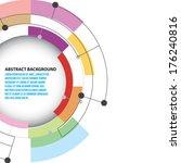 half circle design background  | Shutterstock .eps vector #176240816