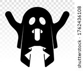 creepy ghost   ghost with... | Shutterstock .eps vector #1762436108