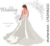 bride back view vector... | Shutterstock .eps vector #1762436222