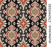 ikat geometric folklore... | Shutterstock .eps vector #1762443182