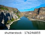 The Snake River as it flows just east of Twin Falls, Idaho