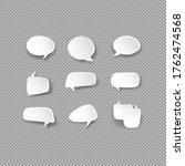 white bubble speech icon set....   Shutterstock .eps vector #1762474568