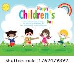 happy children day for new... | Shutterstock .eps vector #1762479392