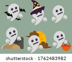 wuuuuuu  iam ghost  but dont be ...   Shutterstock .eps vector #1762483982