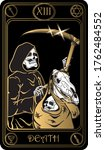 death. the 13th card of major...   Shutterstock .eps vector #1762484552
