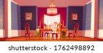 Dining Room Interior In Classic ...