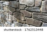 Stone Wall Made Of Hewn Stones