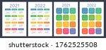 calendar 2021 and 2022. english ... | Shutterstock .eps vector #1762525508