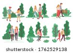collection of couples on dates... | Shutterstock .eps vector #1762529138