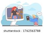 videoconferencing  online... | Shutterstock .eps vector #1762563788