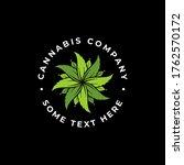 luxury cannabis flower logo... | Shutterstock .eps vector #1762570172