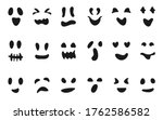 set of carved silhouettes faces ... | Shutterstock .eps vector #1762586582