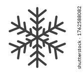 gray snowflake vector symbol...   Shutterstock .eps vector #1762588082