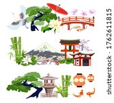 japanese set for banners and...   Shutterstock .eps vector #1762611815