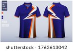 polo shirt mockup template... | Shutterstock .eps vector #1762613042