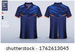 polo shirt mockup template... | Shutterstock .eps vector #1762613045