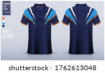 polo shirt mockup template... | Shutterstock .eps vector #1762613048
