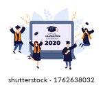 virtual online graduation... | Shutterstock .eps vector #1762638032