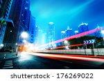 light trails on the street in... | Shutterstock . vector #176269022