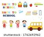 school supplies  books  pencil  ...   Shutterstock .eps vector #1762692962