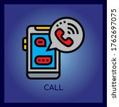 vector phone call icon isolated ...