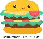 delicious hamburger  bright...   Shutterstock .eps vector #1762710035