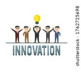 business innovation design...   Shutterstock .eps vector #1762725698